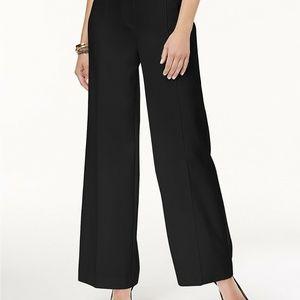 Alfani Women's Wide-Leg Pants Deep Black Sz 8